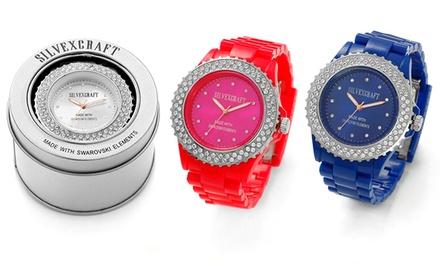 Relógio Silvexcraft com Swarovski Elements por 19,99€ ou dois por 29,99€