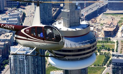 "image for 15-Kilometre Aerial Tour of Toronto with 5""x7"" Print for One, Two, or Three–Toronto Heli <strong>Tours</strong> (Up to 52% Off)"