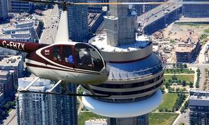 Toronto Heli Tours: 15-Kilometre Aerial Tour of Toronto with a Digital Photo for One or Three from Toronto Heli Tours (Up to 53% Off)