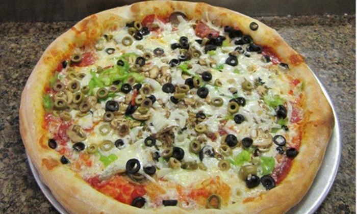 Enzo's Pizza - Snellville: $20 for Large Pizza and Sides for Four at Enzo's Pizza (Up to $41.85 Value)