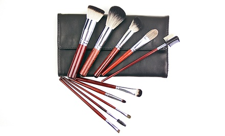 10-Piece Badger Brush Set with Case