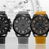 So & Co Men's Sport Chronograph Leather-Strap Watch