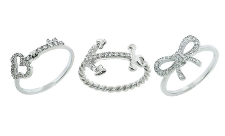 Sterling Silver and Cubic Zirconia Ring. Multiple Designs from $14.99–$17.99. Free Returns.