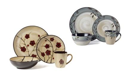 Pfaltzgraff Studio Patterned 16-Piece Dinnerware Set