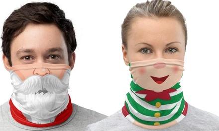 1 o 2 mascherine-scaldacollo natalizie, disponibili in 2 fantasie
