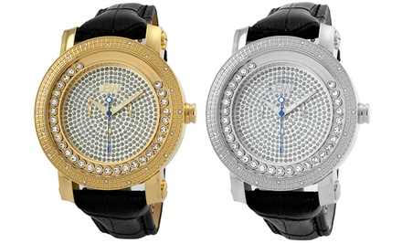 JBW Hendrix Men's Floating Crystals Watch