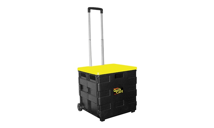 Quik Cart Collapsible Rolling Storage Cart: Quik Cart Collapsible Rolling  Storage Cart ...