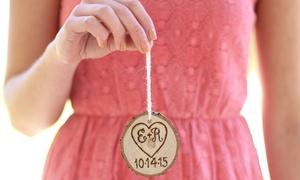 Morgann Hill Designs: $5 for a Custom Engraved Wooden Tree-Slice Ornament from Morgann Hill Designs ($19.99 Value)