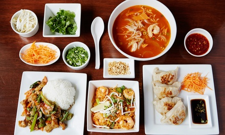 $25 for $40 Worth of Thai and Japanese Food at Tara Temple Restaurant