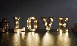 "Marquee 4.5"" LOVE LED Sign: Marquee 4.5"" LOVE LED Sign"