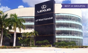 Lexus of West Kendall: Synthetic or Regular Oil Change with Optional Tire Rotation at Lexus of West Kendall (Up to 57% Off)