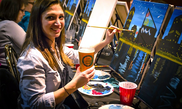 Pub and Paint - Multiple Locations: Two-Hour Painting Experience for One, or Two from Pub and Paint (50% Off)