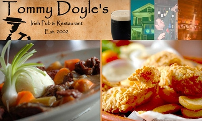 Tommy Doyle's - Multiple Locations: $25 for $50 Worth of Pub Fare at Tommy Doyle's