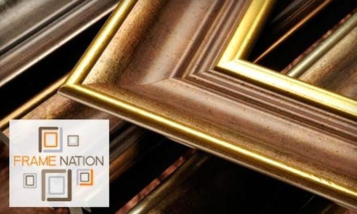 Frame Nation - Shockoe Slip: $40 for $100 Worth of Custom Framing at Frame Nation
