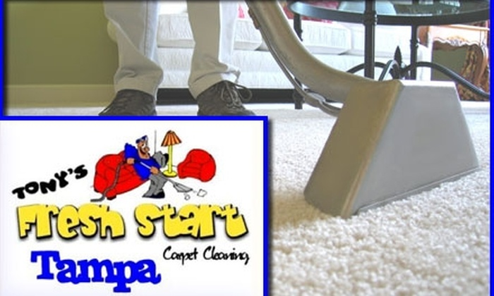 Tony's Fresh Start Carpet Cleaning - Tampa Bay Area: $35 for Five-Room Carpet Cleaning and Quick Dry From Tony's Fresh Start Carpet Cleaning ($95 Value)