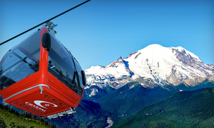 Gray Line of Seattle - Multiple Locations: $60 for a Mount Rainier Vista Bus Tour for Two Including Two Crystal Mountain Gondola Tickets from Gray Line of Seattle (Up to $130 Value)