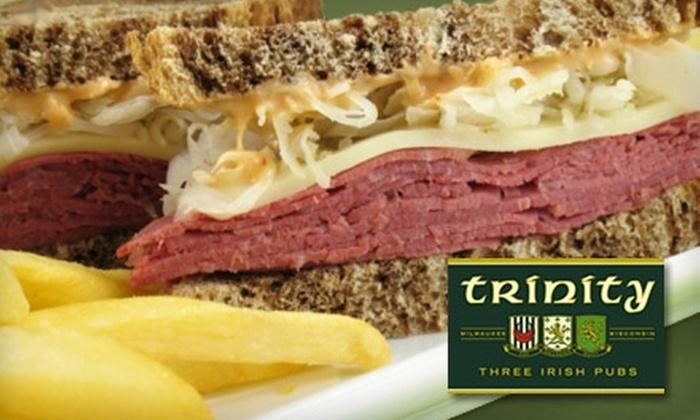Trinity Three Irish Pubs - Juneau Town: $10 for $20 Worth of Irish Pub Fare at Trinity Three Irish Pubs