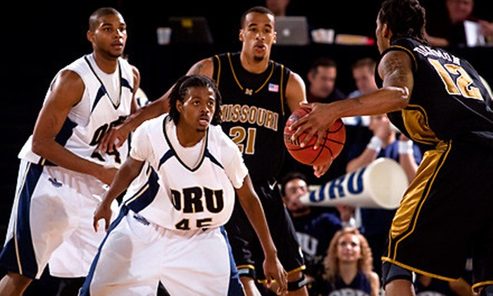 ORU Basketball vs. Texas Tech - Oral Roberts University Heights: Tickets for One, Two, or Four to ORU vs. Texas Tech Basketball Game (Up to 58% Off)