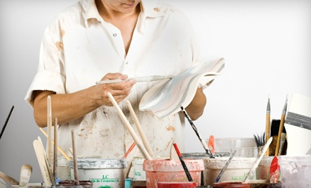 $20 Worth of Pottery to Paint for One Person - Bella Pottery Painting Studio in Mooresville