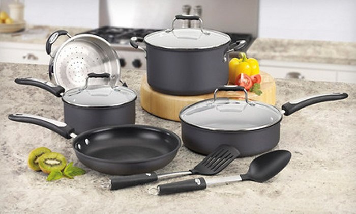 Cuisinart 10-Piece Cookware Set: $89 for a Stainless Steel or Hard Anodized Cuisinart Pro Classic 10-Piece Cookware Set ($149 Value)