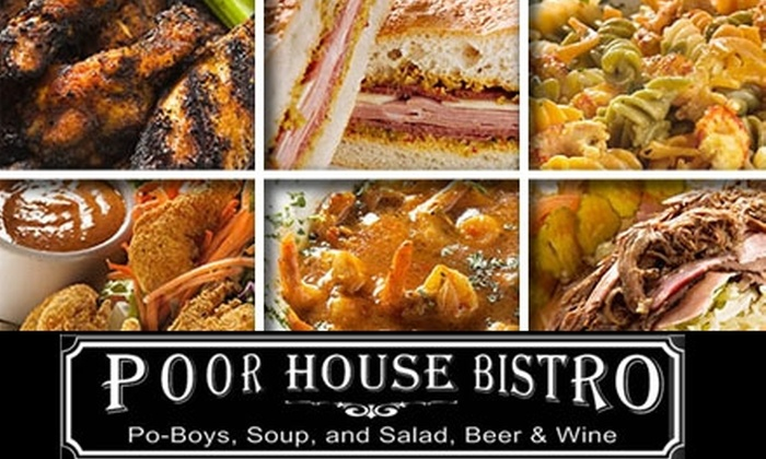Poor House Bistro - Lakehouse: $10 for $20 Worth of New Orleans Comfort Food and Drink at Poor House Bistro