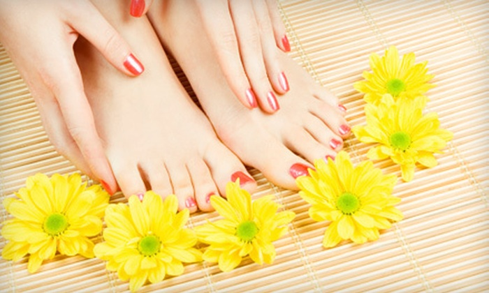 Evolve Salon & Day Spa - Holladay: Mani-Pedi or Spa Pedicure with Shellac or Gelish at Evolve Salon & Day Spa (Up to 56% Off)