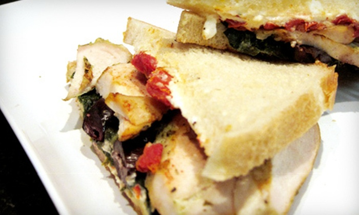 Cafe at Franklin Street Works - Downtown Stamford Historic District: $10 for Two Café Sandwiches and Two Drinks at Franklin Street Works in Stamford (Up to $24 Value)
