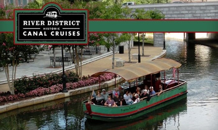River District Canal Cruises - Shockoe Slip: $5 for Two Adult Tickets for a Boat Cruise with River District Canal Cruises (Up to $10 Value)