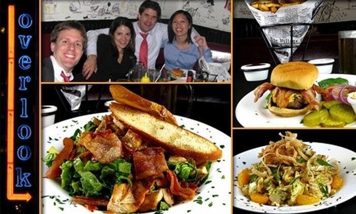 Overlook - Midtown East: $10 for $20 Worth of Bar Eats and Drinks at Overlook