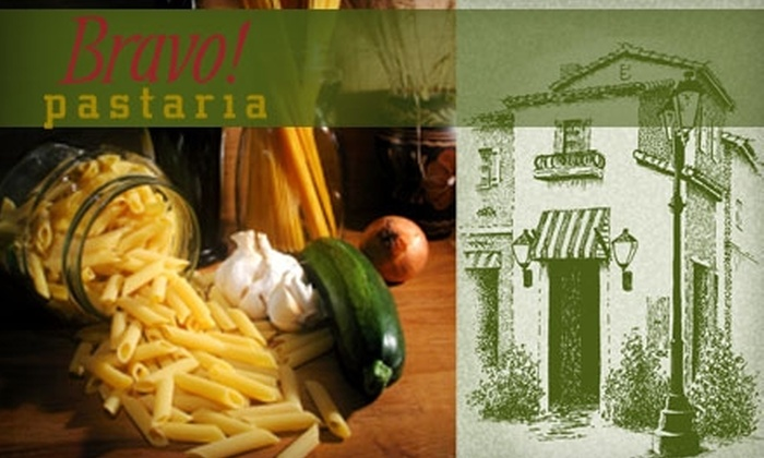 Bravo! Pastaria Market & Eatery - East Roseville Parkway: $15 for $30 Worth of Italian Fare at Bravo! Pastaria Market & Eatery