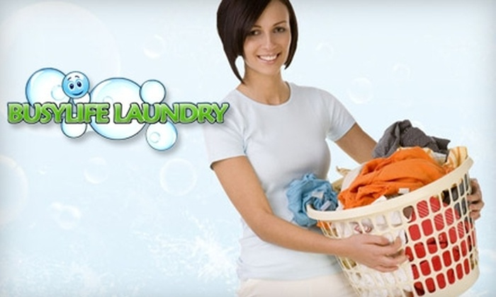 BusyLife Laundry - Atlanta: $28 for 50 lbs. Worth of Laundry Pickup and Delivery from BusyLife Laundry ($82.50 Value)