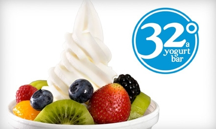 32°, A Yogurt Bar - Downtown: $3 for $6 Worth of Self-Serve Frozen Yogurt at 32°, A Yogurt Bar