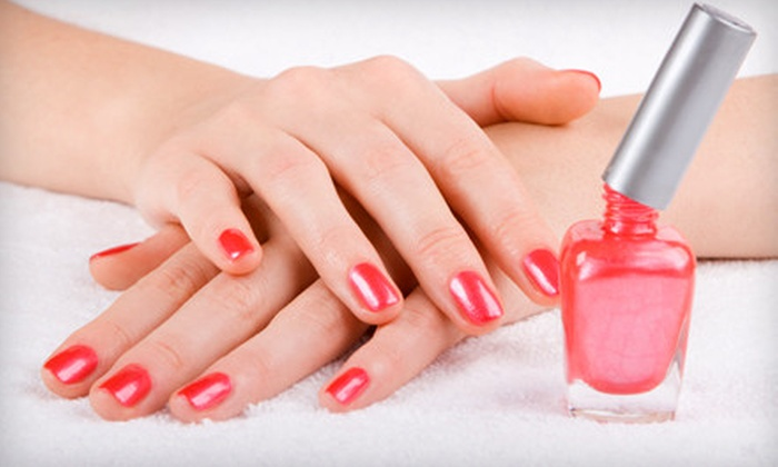 Oggi/ Adam & Eve Salon and Day Spa - Greenville: Basic Mani-Pedi or a Manicure with a Spa Pedicure at Oggi/Adam & Eve Salon and Day Spa in Scarsdale (Up to 59% Off)