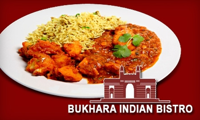 Bukhara Indian Bistro - Plymouth - Wayzata: $10 for $20 Toward Dinner Fare and Drinks at Bukhara Indian Bistro (or $5 for $10 Toward Lunch)
