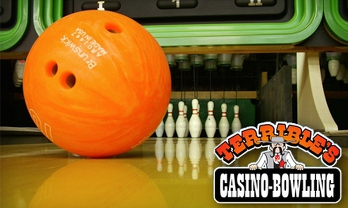 Terrible's Town Casino & Bowling Center - Valley View: $10 for a Two-Person Bowling Package at Terrible's Town Casino & Bowling Center in Henderson (Up to $23 Value)