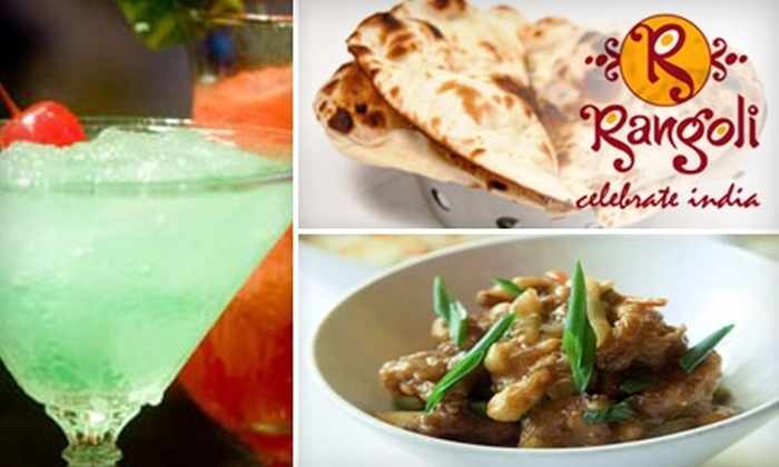 Rangoli - South Riding: $15 for $30 Worth of Authentic Indian Fare and Drinks at Rangoli in Chantilly