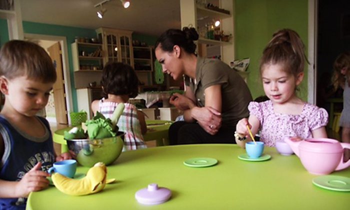 The Little Green Tambourine - Canton Valley: One or Three Kids' Art-Studio Open-Play Visits at The Little Green Tambourine in North Canton (Up to 56% Off)