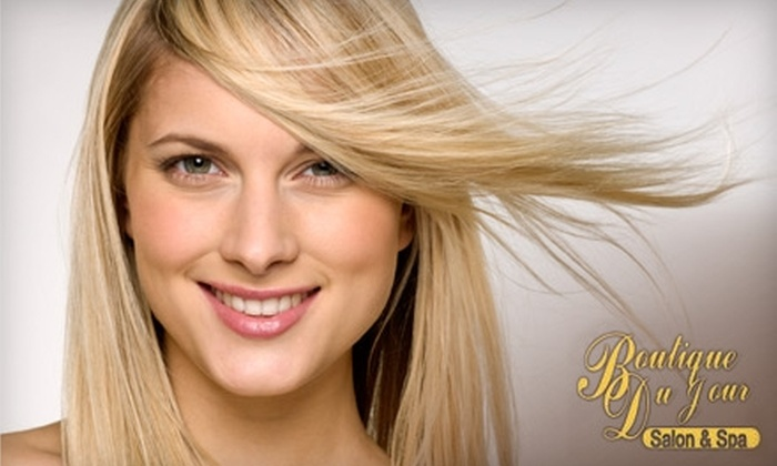 Boutique Du Jour Salon and Spa - Bay Area: $30 for $85 Worth of Hair Services at Boutique Du Jour Salon and Spa