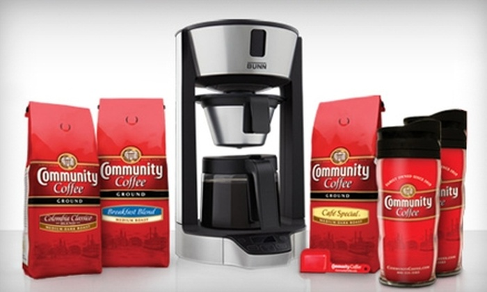 Community Coffee Company: $10 for $20 Worth of Gourmet Coffee, Teas, and Coffee Accessories from Community Coffee Company