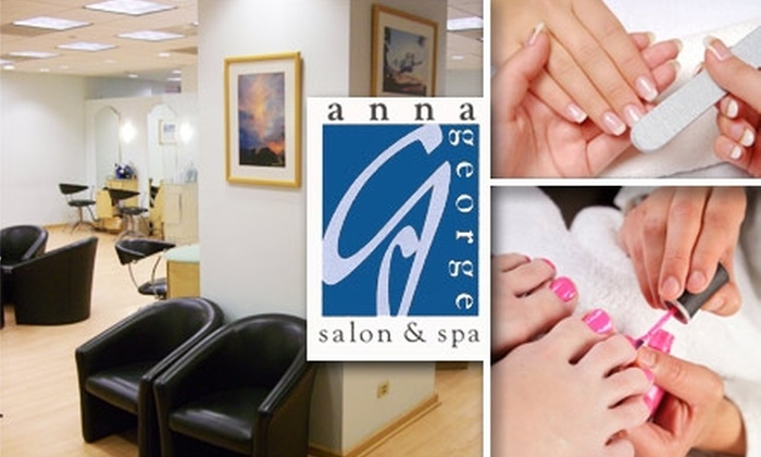 Anna George Salon & Spa - Loop: $28 for a Regular Mani-Pedi at Anna George Salon and Spa