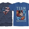 Men's Batman and Superman Tees