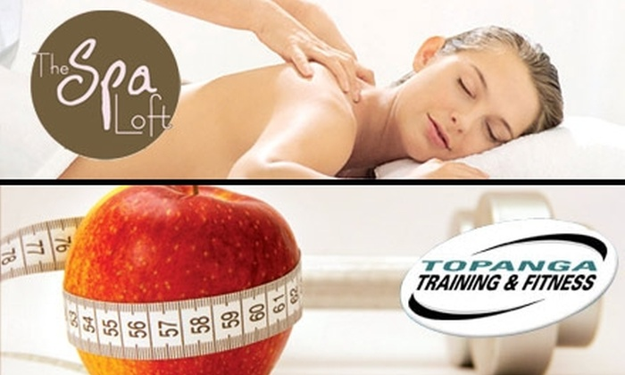 Topanga Training & Fitness and The Spa Loft - Multiple Locations: $49 for $100 Worth of Personal Training, Merchandise, Spa Services, and More at Topanga Training & Fitness and The Spa Loft