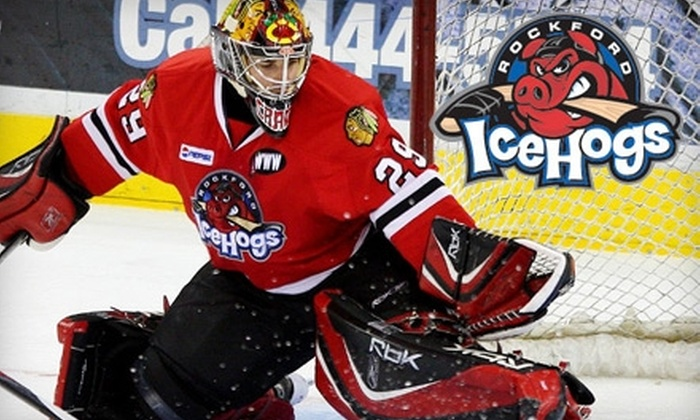 Rockford IceHogs - Downtown Rockford: $49 for Four Executive Sideline Tickets to the Rockford IceHogs vs. Chicago Wolves Hockey Game on December 17, Including Concessions and Parking Pass ($116 Value)