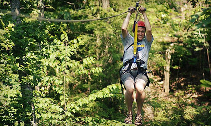 Red River Gorge Zipline - Campton: $93 for a Two-Hour Zipline Tour for Two with Photos from Red River Gorge Zipline in Campton ($208 Value)