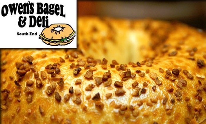 Owen's Bagel and Deli - Dilworth: $7 for $15 Worth of Bagels, Bagel Sandwiches, Drinks, and More at Owen's Bagel and Deli