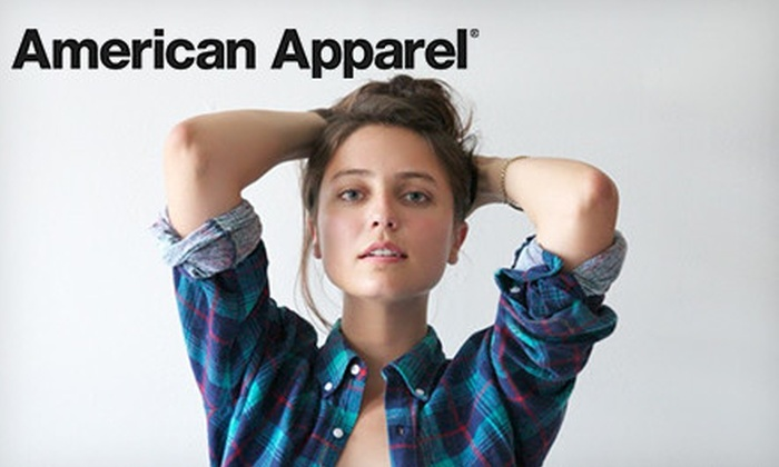 American Apparel - Victoria: $25 for $50 (or $50 for $100) Worth of Clothing and Accessories Online or In-Store from American Apparel in the US Only