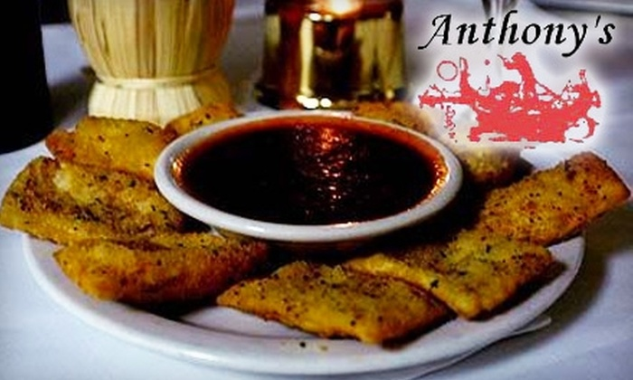 Anthony's Restaurant & Lounge - Central Business District - Downtown: $15 for $30 Worth of Pastas, Wine, and More at Anthony's Restaurant & Lounge