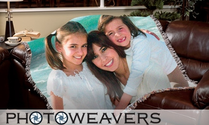 """PhotoWeavers: $64 for Customized 70""""x53"""" Photo Blanket, Plus Shipping, from PhotoWeavers ($129 Value)"""