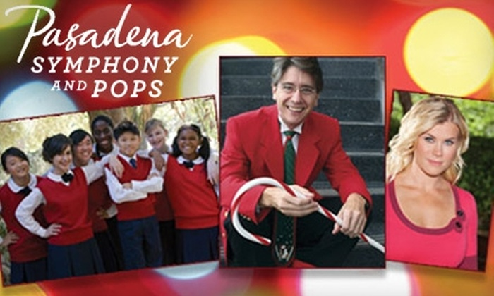 Pasadena Pops - Multiple Locations: One Ticket to the Pasadena Pops Performance of Holiday Pops at the Pasadena Civic Auditorium on December 4 at 7 p.m. Choose From Three Ticket Options.