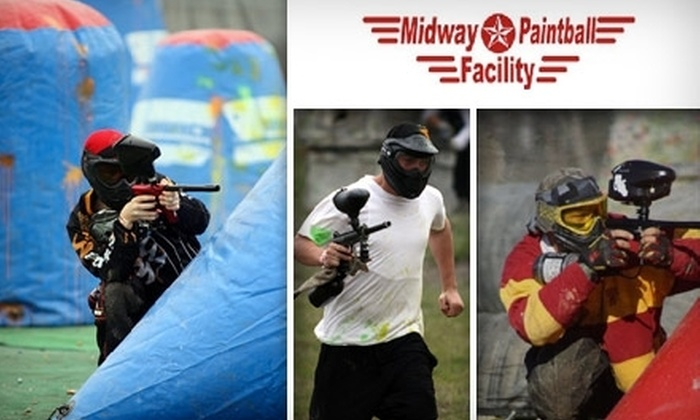 Midway Paintball - Vacaville: $25 for All-Day Entry, Equipment, and 200 Paintballs at Midway Paintball in Vacaville ($50 Value)